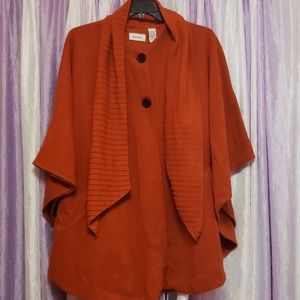 Burnt Orange Color Poncho